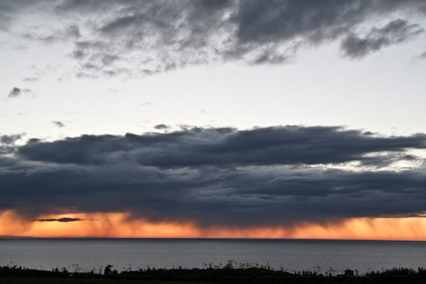 日没後の岬