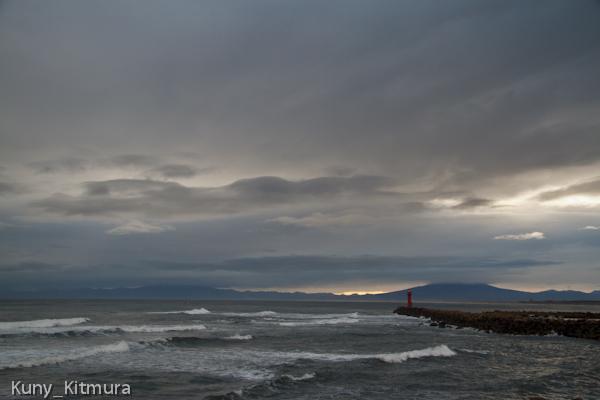 今日の空と海