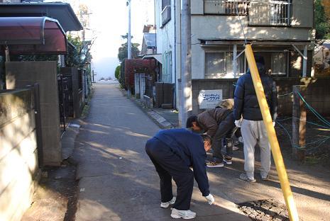 ボランティア清掃 路地裏