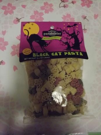 ハロウィン猫柄マカロニ1