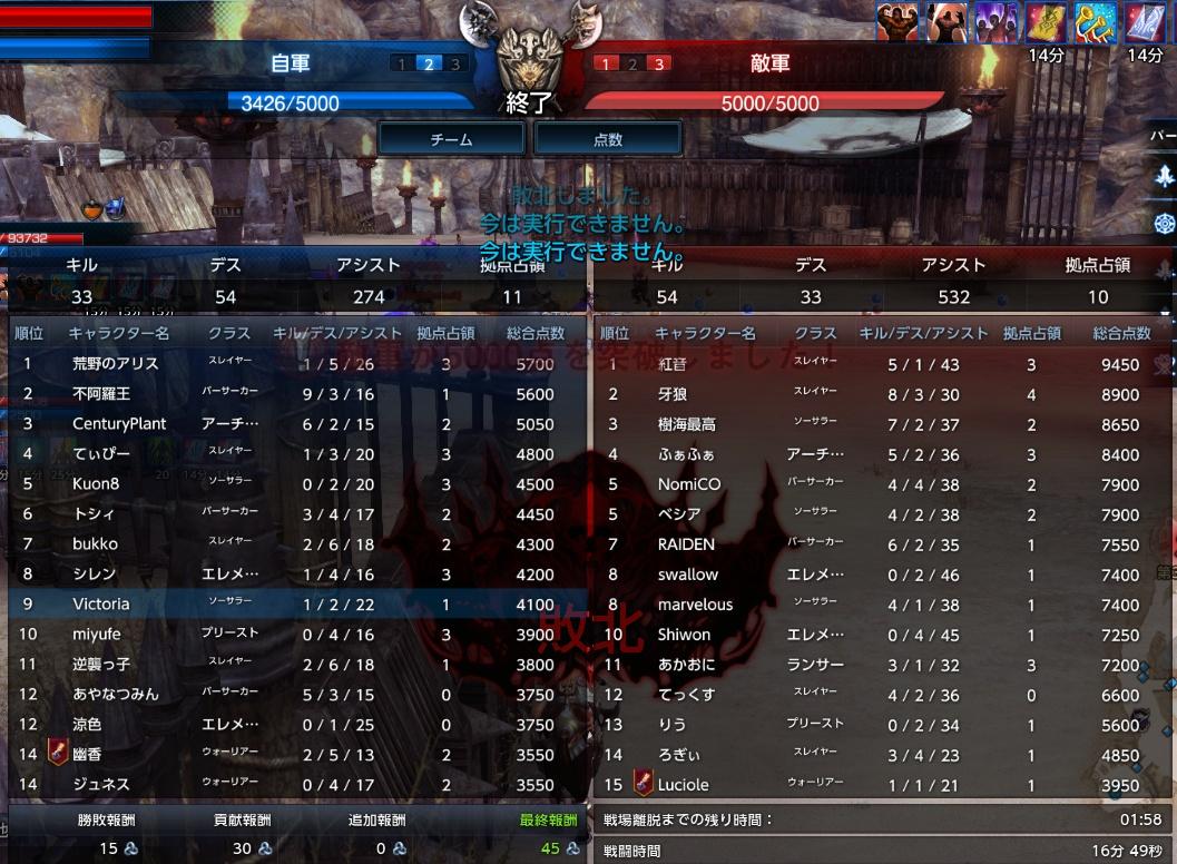 精鋭名誉戦場3戦目