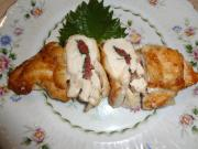 鶏の胸肉の大葉と梅肉挟み焼き(縮小)