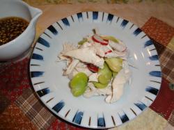 空豆とささみの酢の物(縮小)