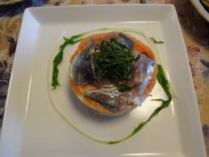 鯵と鮭の押し寿司(縮小)