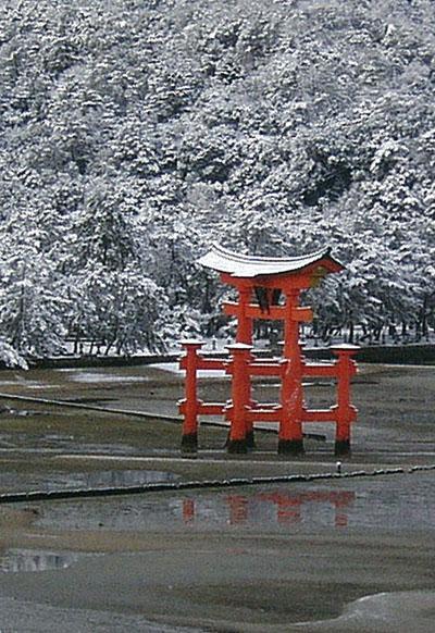 宮島・冬景色