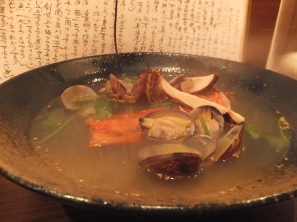 金目鯛と活あさりの松茸蒸し