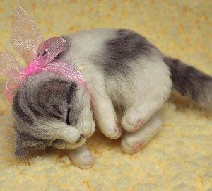 白サバ仔猫睡眠中12-11 020