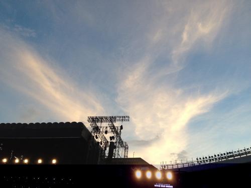 夕暮れのスタジアム