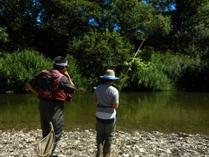川釣り風景