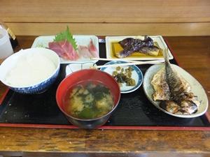 刺身定食(だったかな?)