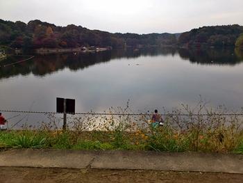 宮沢湖 堤防から