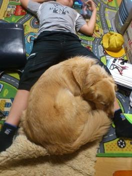 息子くんと寝るジャック