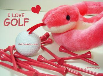 ゴルフ年賀状 2013 へび