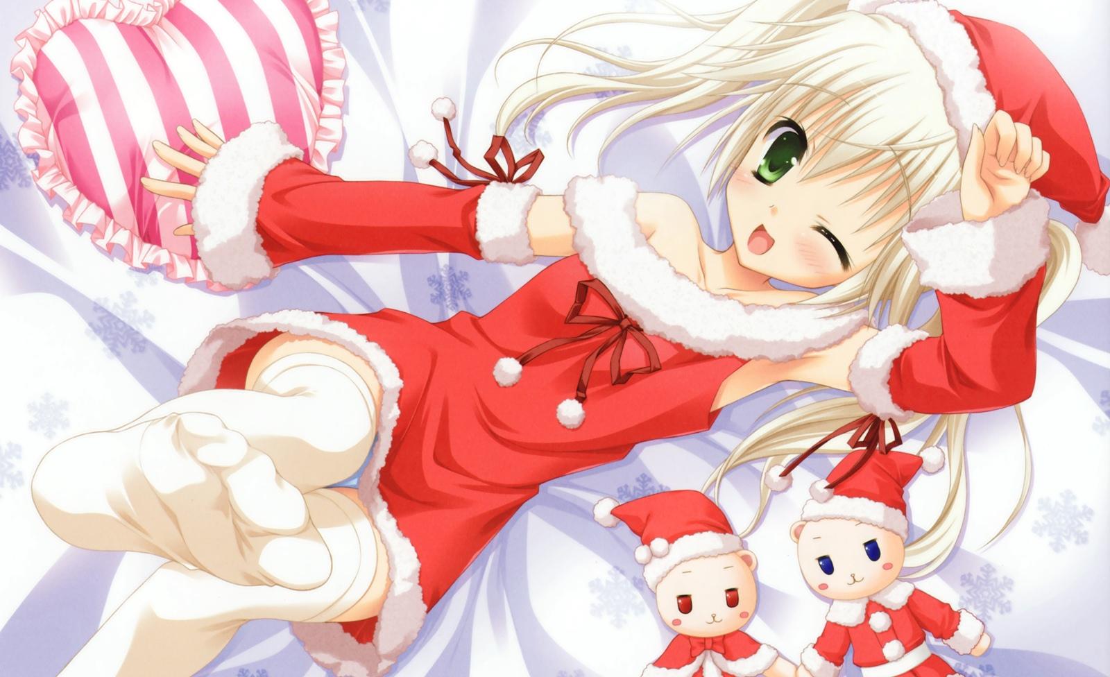 はつゆきさくらシロクマ・クリスマスサンタ