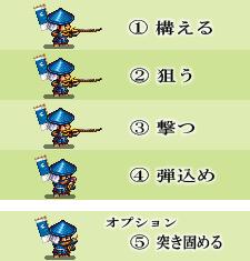 合戦アクション・鉄砲隊編 ちょこっと変更!