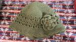 すかし編みのゆったり帽子