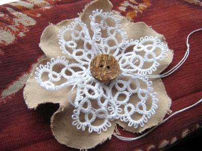 布花 花型の布で(予定)