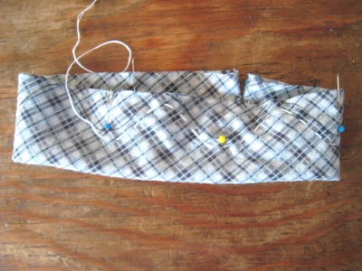 布花 布を波型に縫う