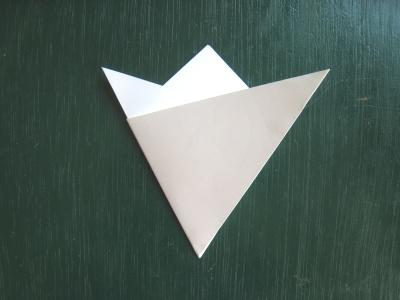 月見草のモチーフのヘアゴム 型紙 3等分に折る