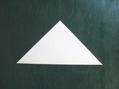 月見草のモチーフのヘアゴム 型紙 半分に折る