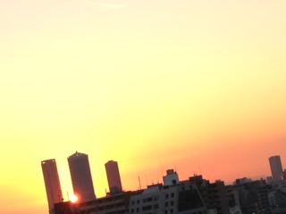 夕焼け12月