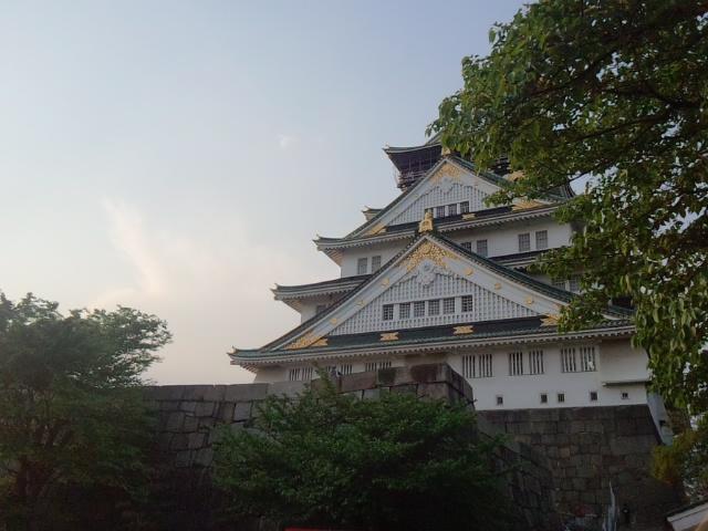 夕日の大阪城