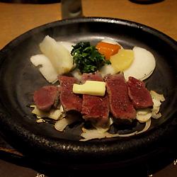 三田牛のステーキ