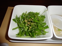 水菜とネギのチョレギサラダ