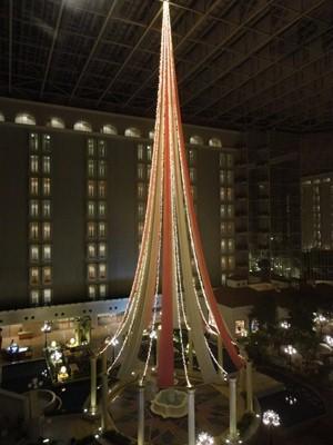 ホテル内のイルミネーション