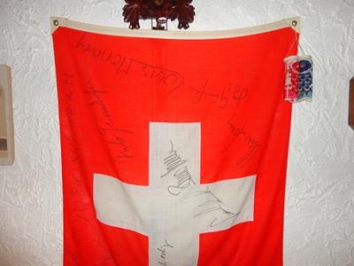 スイスチームのサイン