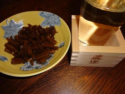 茎わさびと日本酒
