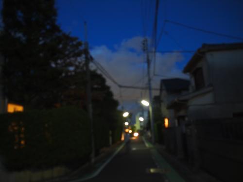 アパートとアパート付近の景色(夜)