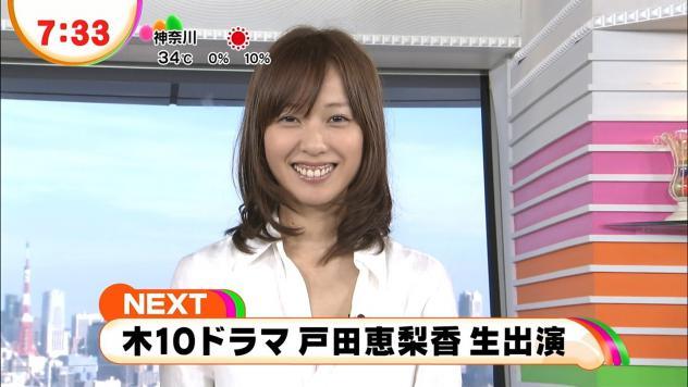 めざましテレビに出演した戸田恵梨香の歯茎が酷い