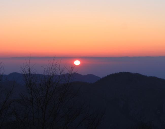 雲取山山荘 日の出
