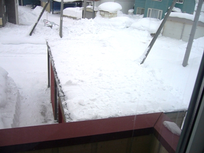 雪下ろし終了
