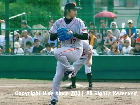 先発 東野投手 #17