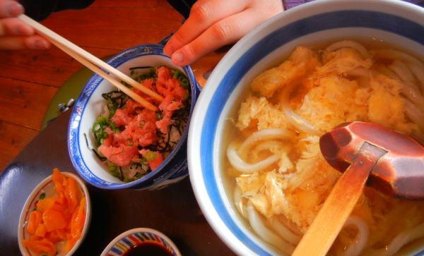 ねぎトロ丼(うどん付)
