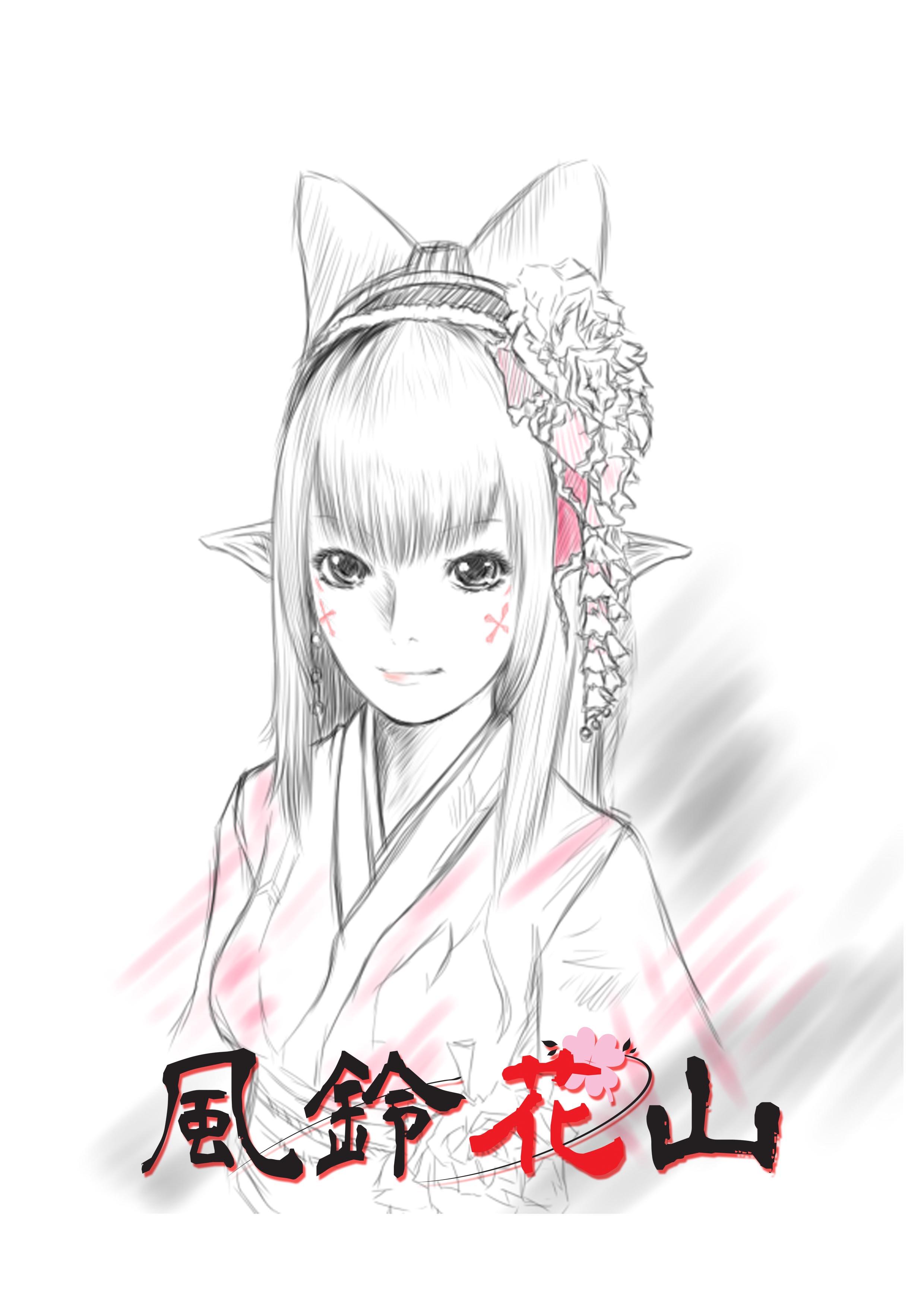 緋色牡丹画