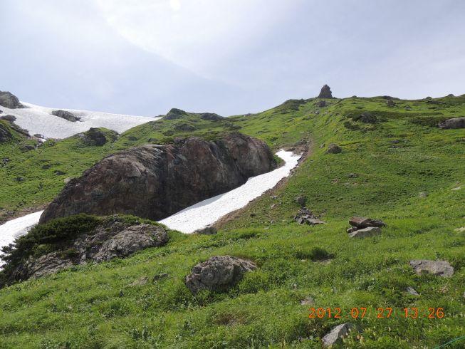ゾウ岩に刻まれた氷河の爪痕