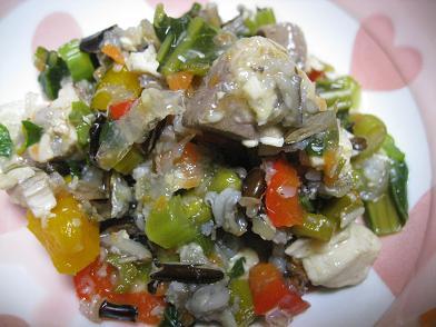 ワカナ(イナダ)入り野菜スープ