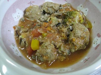 鰯のすり身入りトマトスープ