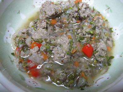 きびなごのすり身スープ