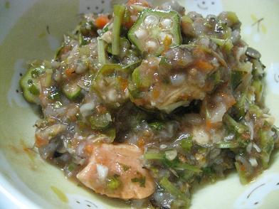 鮭と鱈のトマト煮込み