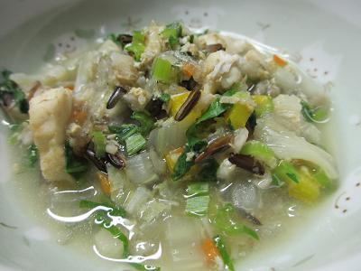 スズキ入り野菜スープ