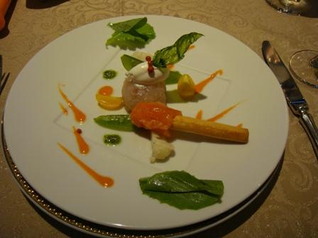 ディナーの前菜
