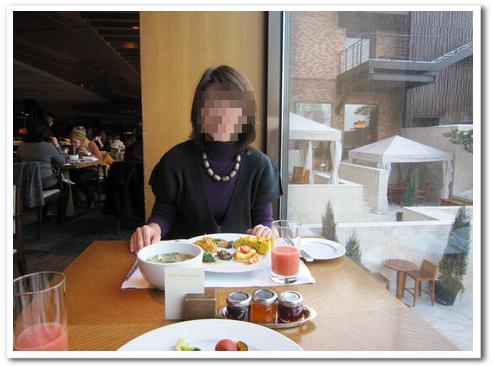 新羅ホテル 朝食1