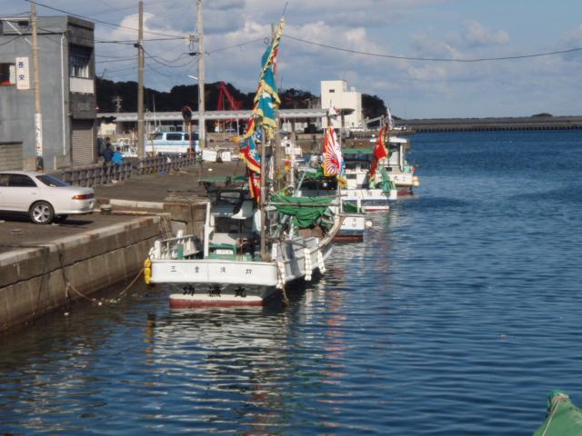 元日の漁港