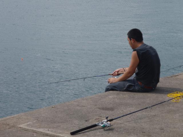 彼も釣れない(笑)