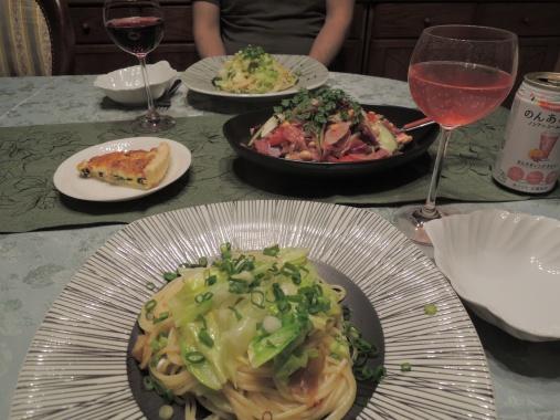 5月15日 キャベツとアンチョビのスパゲッティ