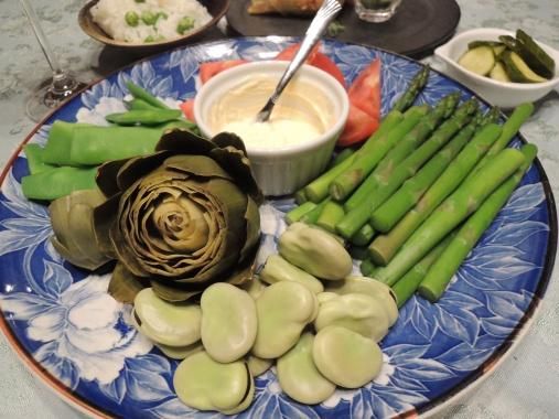 6月20日 野菜の盛り合わせ
